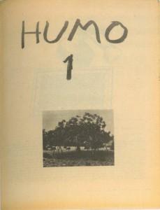 Portada del primer y único ejemplar de la revista HUMO, 1977. Catálogo del Patio Herreriano, p. 75.
