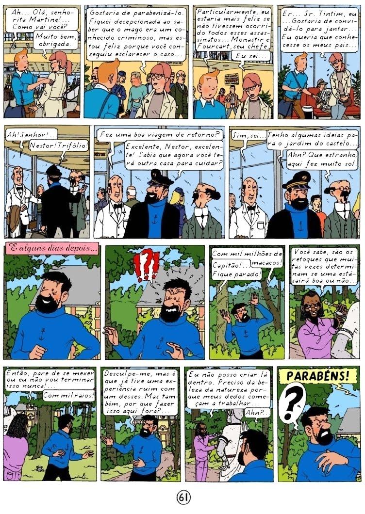 Pagina de Tintin y el arte Alfa por Rodier